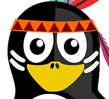 Native American Penguin by kwg2200