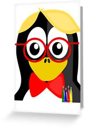 Nerd Penguin by kwg2200