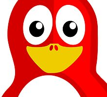 Red Penguin by kwg2200