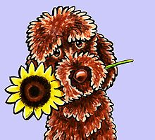 Oh Sunny Day Chocolate Labradoodle  by offleashart