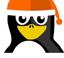 Orange Hat Penguin by kwg2200