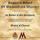 Official Hogwarts Diploma Poster - Charms by eaaasytiger