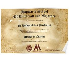 Official Hogwarts Diploma Poster - Charms Poster