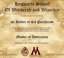 Official Hogwarts Diploma Poster - Astronomy by eaaasytiger