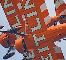 Crazy Wingwalking - Dunsfold 2013 by Colin J Williams Photography