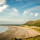 Rhossili Bay - Golden Light, South Wales by digihill