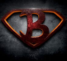 "The Letter B in the Style of ""Man of Steel"" by BigRockDJ"