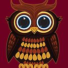 Friendly Owl - Dark Red by Adamzworld