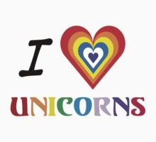 I Love Unicorns (T-Shirt & Sticker) by PopCultFanatics
