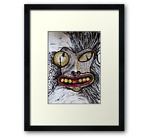 Barbarism (7) - Dragon head Framed Print