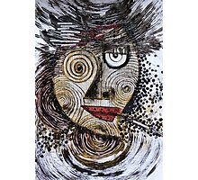 Barbarism (8) - Black-eyed  lady with cigar Photographic Print