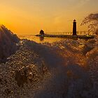 Grand Haven Winter Ice by Roger  Swieringa