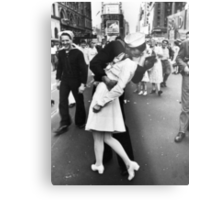 Times Square V/J-Day Kiss Metal Print