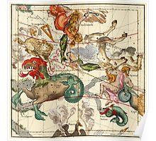 Cetus, Aquarius, Andromeda, Pegasus, Phoenix, Aries, Triangulum And Other Constellations Poster