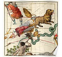 Virgo, Hydra, Crater, Bootes, Leo, Centaurus And Other Constellations Poster
