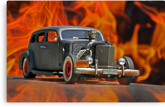 1938 Cadillac 'Lucifer's Limo' by DaveKoontz