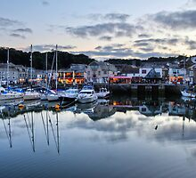 Dusk Over a Cornish Harbour by pixog