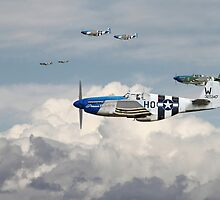 P51 Mustang - Blue Noses - 352nd FG by Pat Speirs