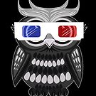 Owl - 3D Glasses - Black by Adamzworld