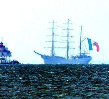 Tall Ship ARM Cuauhtemoc, in the Chesapeake Bay by Hope Ledebur