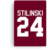Stiles Stilinski's Jersey - white text Canvas Print