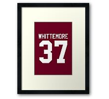 Jackson Whittemore's Jersey - white text Framed Print