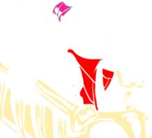 Calvydia and Beetlehobbes (Dark Shirts) Sticker