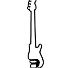 Bass Guitar Outline by George Barwick