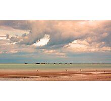 Gold Beach, Normandy - 69 Years after D-Day  Photographic Print