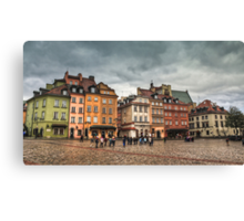 Gloomy Sky Over Warsaw Old Town Canvas Print