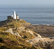 Mumbles Lighthouse Swansea Gower Wales by Nick Jenkins