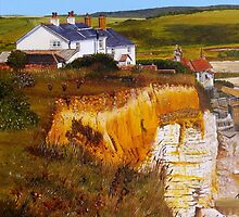 Cuckmere Cottages by Paula Oakley