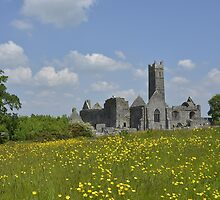 Quin Abbey County Clare Ireland Landmark Scenic by upthebanner