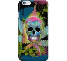 Painted Skull & Leaf iPhone Case/Skin