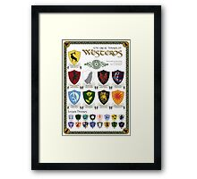 Game of Thrones House Sigils Framed Print