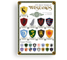 Game of Thrones House Sigils Canvas Print