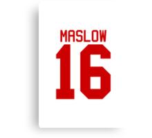 James Maslow jersey - red text Canvas Print