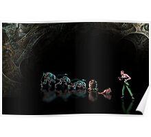 Alien 3 pixel art Poster