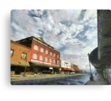 Parting Clouds Over Franklin, NC Metal Print