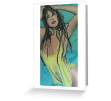 The Girl In the Pool Greeting Card