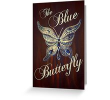 The Blue Butterfly Greeting Card