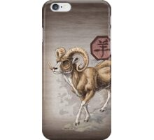Year of the Ram Card iPhone Case/Skin
