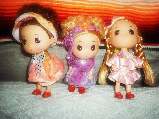 Three little dolls to hang in Car by EdsMum
