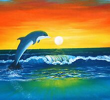 Dolphin Delight by Noel Smith