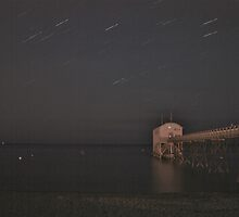 Selsey Lifeboat Pier and Stars by Matthew Floyd