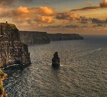cliffs of moher scenic sunset landscape seascape ireland by upthebanner