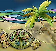 Vacationing Turtle by ArtByRuta