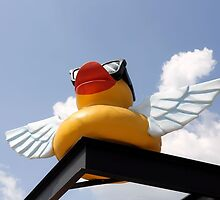 Uber Flying Rubber Duck With Ray Bans by SuddenJim