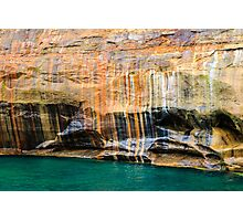Mineral Seeps at Pictured Rocks National Lakeshore Photographic Print