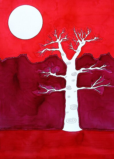 Canyon Tree original painting by CrowRisingMedia